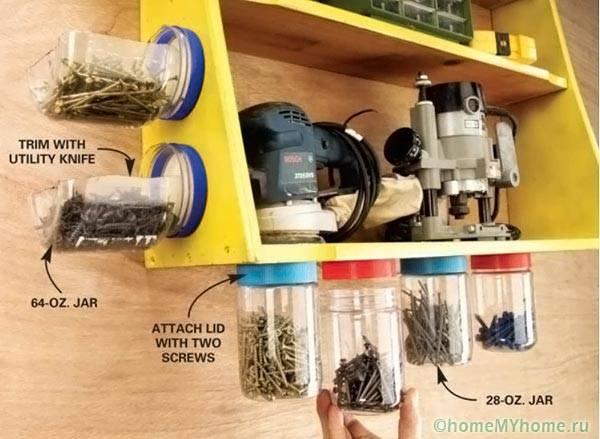 Устройство за съхранение на малки части, инструменти, хардуер
