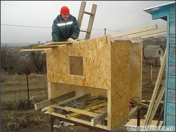 Изграждане на кокошарник от OSB