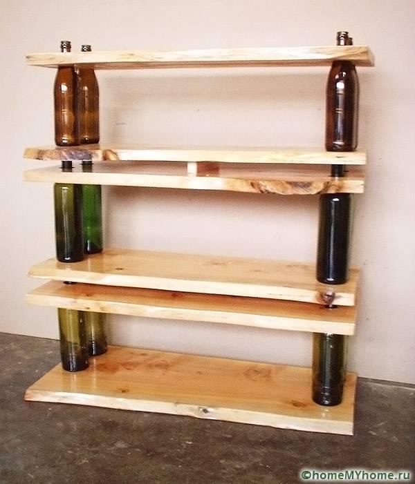 Използвайте за стелажи за стъклени бутилки