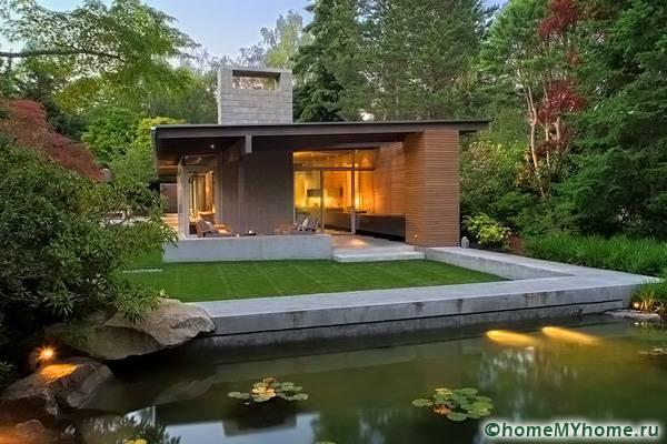 Стилен дом и оригинален пейзаж