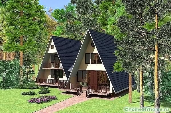 Стилни сгради под формата на хижа