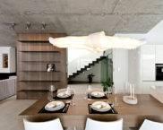 Бетонен таван в интериора