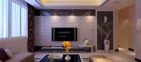 Тавани от гипсокартон за хола: снимка