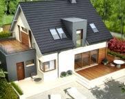 Къща с таванско помещение: проекти, снимки