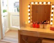 Тоалетка с огледало и осветление
