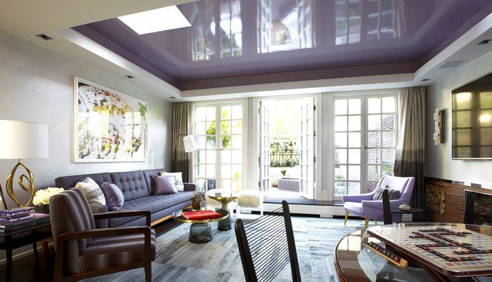 Матов или гланцов таван може да бъде бял, кремав, бежов, светлокафяв, светложълт, лавандулов