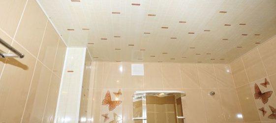 Декорация на тавана с пластмасови панели
