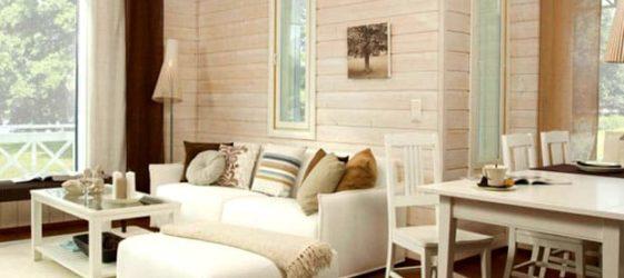 Завършване в дървена къща: снимка
