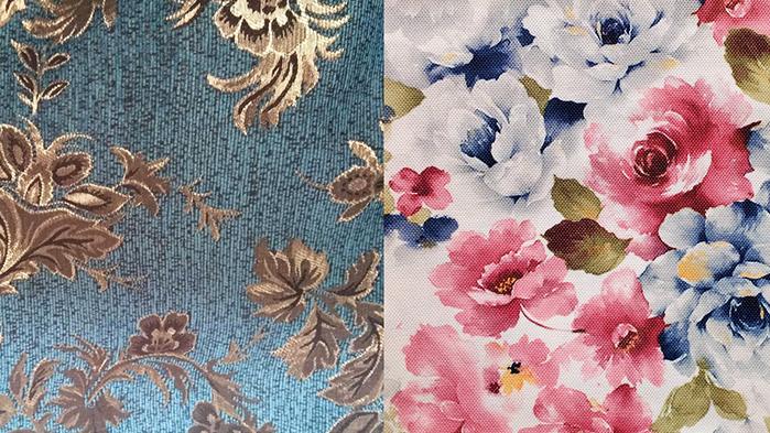 Мебелната тапицерия с тъкани и щамповани шарки е значително различна, както по своите естетически качества, така и по издръжливост