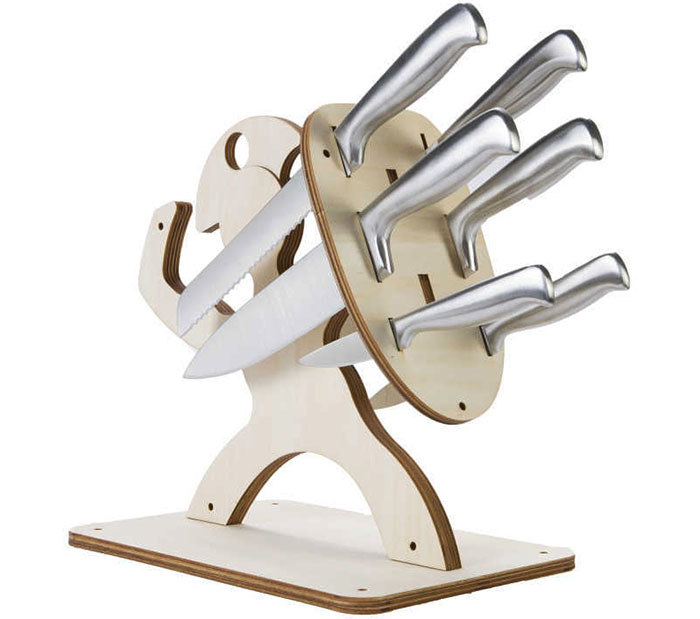 Защо не използвате многослоен шперплат, за да създадете ниша за кухненски ножове